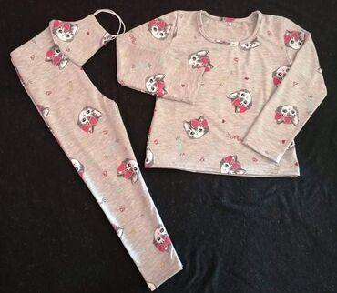 Majice na veliko - Srbija: Trodelni komplet - helanke, majica i maska, rade se u velicinama 2 do