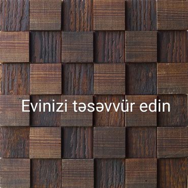 Bakı şəhərində Divar döşəmələri. təbii ağaclardan. dekor.