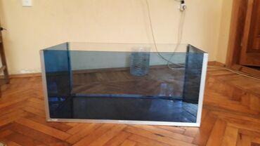 184×40×40. 125 litr. boş akvarium. +su filtri,su qızdıran,led işığ+