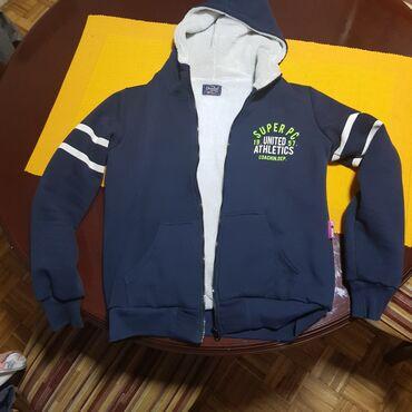 Dečija odeća i obuća - Majdanpek: Duks-jakna,veoma topla-postavljena.Nosena samo 2 puta,vel 12-14god
