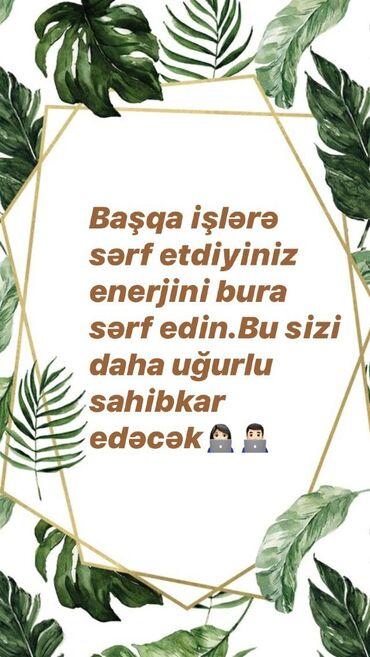 Şəbəkə marketinqi məsləhətçisi. 18-29 yaş. İstirahət günləri iş