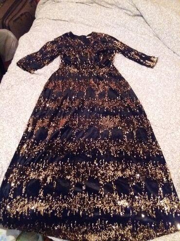 длинные вечерние платья с длинным рукавом в Кыргызстан: Продаю турецкое шикарное платья с пайетками длинный в отличном
