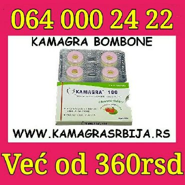 Ostala vozila | Srbija: Kamagra Bombone za potenciju  1 pakovanje (4 tableta)  800din   3 pako