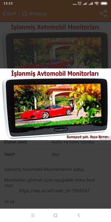 Sumqayıt şəhərində İşlənmiş Avtomobil Monitorları