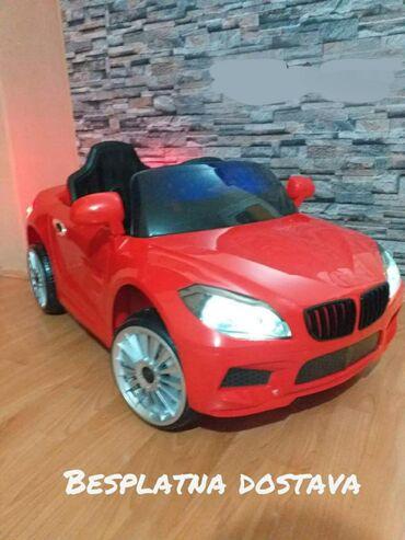 Dečiji električni automobili - Srbija: BMW autic deciji model 215.Boja crvena.Akumulator 2x6V4.5Ah