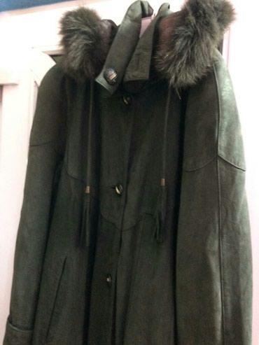 Кожа нобук, плащ пальто,осень зима, 50-52 (2xxl),почти новый в Бишкек