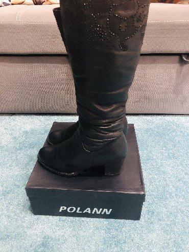сапоги-кож-зим в Кыргызстан: Сапоги Зимние сапоги Polann, натуральный мех, мягкая кожа теленка, в