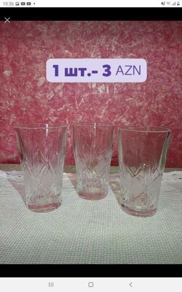 yay üçün kişi üst geyimləri - Azərbaycan: Sovet xrustalı, su və sok üçun, 12 ədəd, istifadə olunmayıb
