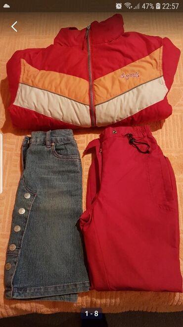 Posao u nemackoj - Srbija: Paket za devojcice,velicina 128,pantalone su nove i postavljene