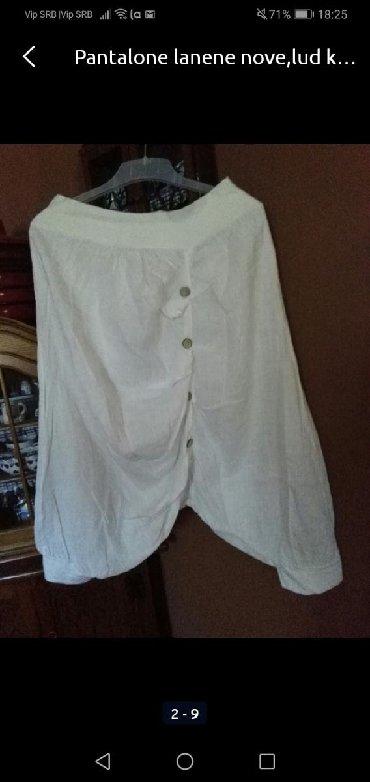 Pantalone od lana, nove, ludi kroj