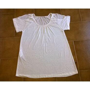 Μπλουζάκι εκρου Stefanel - Μέγεθος Small70% Lyocell 30% LinenΤο