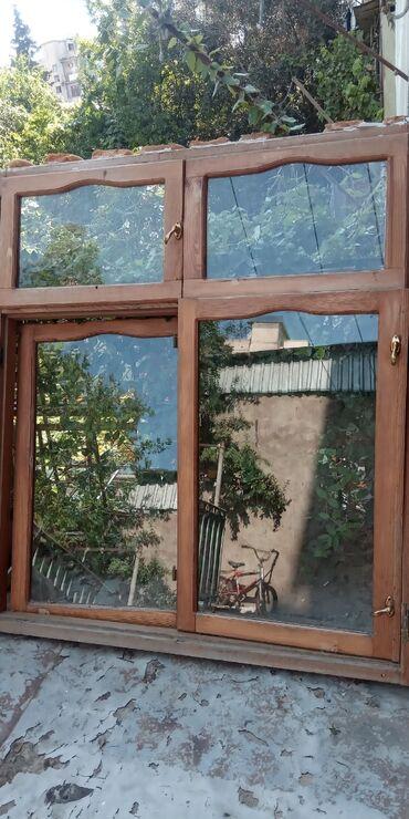 taxta - Azərbaycan: Taxta gapi pencere eni 2.10
