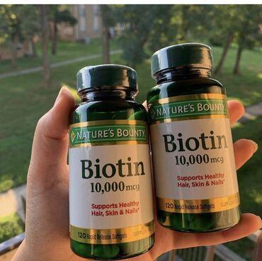 Vitaminlər və BAƏ - Azərbaycan: Amerikanin Nature's bounty brendinin Biotini 10.000mcg, 120 tabletsaç