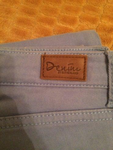 Новые голубые джинсы DENIM мягкий размер 25-26 покупала в Москве в Кок-Ой