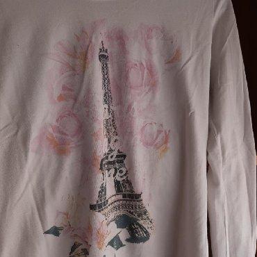 Majica-dug - Srbija: Bela majica na dugačak rukav, veličina S