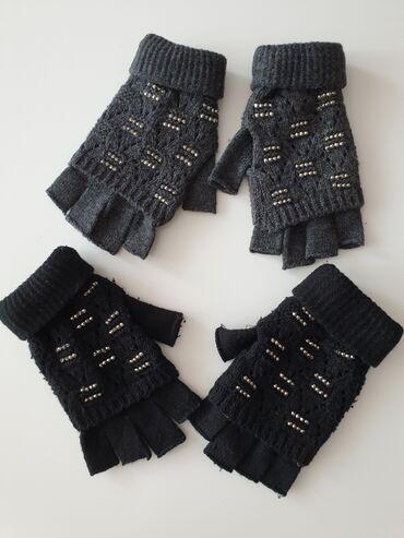 Ski rukavice - Srbija: Rukavice sa cirkonima novo. Deo gde su cirkoni moze da se skine. Vel