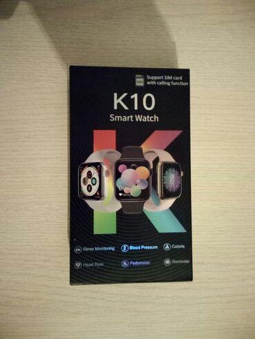 Личные вещи - Манас: Smart watch умные Часы к10 можно ставит симку и флешку и слушать песни