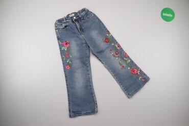 Дитячі джинси з вишитими квітами Rolly, вік 5 р.    Довжина: 67 см Дов