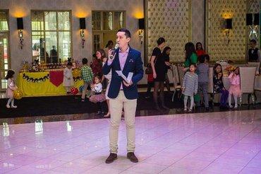 Ведущий  и организатор мероприятий -  Азат Молдобаев (+ полный комплек в Бишкек