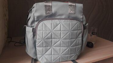 сумка для мам в Кыргызстан: Сумка для мамочек Очень удобная много кармашек,стильная внутри 2
