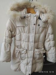 детские безрукавки в Кыргызстан: Продаю куртку детская примерный возраст от 6 до 9 лет цвет айвори зима