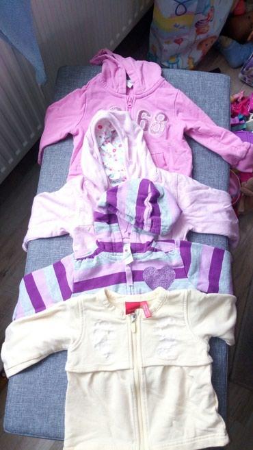 Ostala dečija odeća | Sabac: Duksici za bebe ljubicasti 68,žuti 68, roze 56 i drugi roze esprit 86