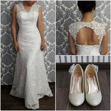свадебные платья бу в Кыргызстан: Свадебное платье приталенное. С открытой спинкой. Качество шикарное