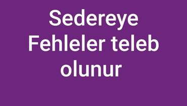 fehleler - Azərbaycan: Sedereye Fehleler teleb olunur.Emek haqqi gundelik 20azn.iw saati 8den