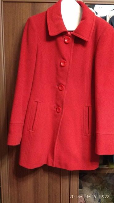 Bakı şəhərində Продается женское красное пальто размер М в хорошем состоянии
