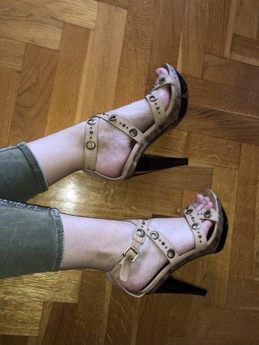 Zenske sandale od koze, kao nove. 40broj. Udobne, ne bole noge uopste - Knic