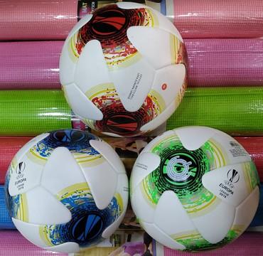 Bakı şəhərində Lazerli tikişli futbol topu UEFA EUROPA LEAGUE