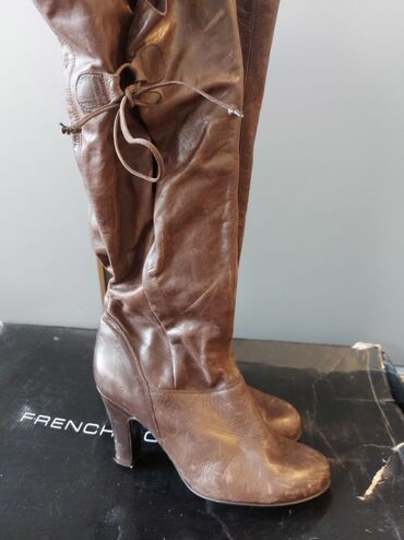Cizme 40 - Srbija: Kozne cizme,nosene par puta.Model siri gore