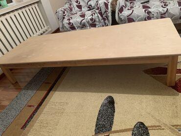 бу мебель in Кыргызстан | ДИВАНЫ: Продаю 2 деревянных стола.Длина-2 м.Ширина -80 смВысота-35 см2 стола