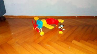 Rc avion - Srbija: Miki-maus originalne Disney igračke avion kod kog se navija propeler