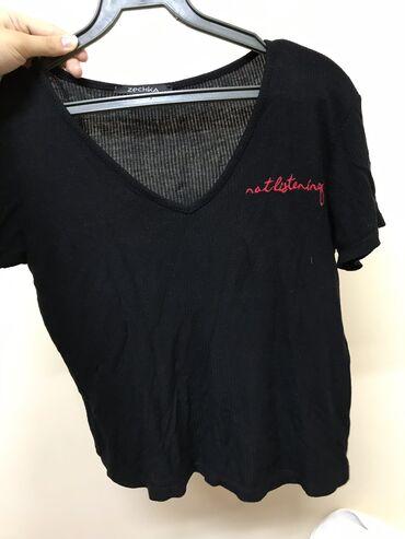 Продаю чёрную футболку, несколько раз носила) состояние очень хорошее