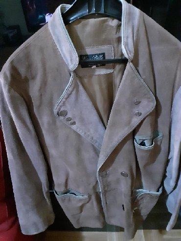 Sirina ramena sa - Srbija: Muska kozna jakna,velur sa rucno radjenim aplikacijama. Dusina rukava