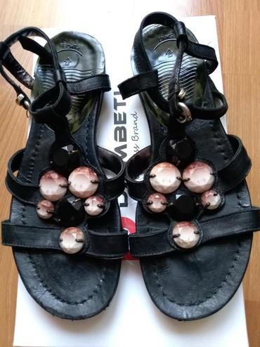 Ženska obuća | Prijepolje: Sandale paar. Prirodna koza. Vel. 37. Preudobne. Nosene jedne sezone