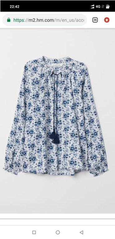 блузки-рубашка в Кыргызстан: HM, США, новая кофта 38 размер большемерять