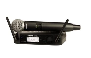 Аудиотехника - Кыргызстан: Радиосистема SHURE GLXD24/SM58 в отличном состоянии. Она отличается лу