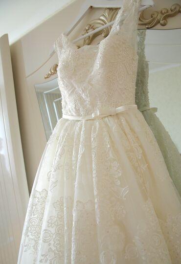 Свадебные платья и аксессуары - Бишкек: Продаётся или сдаётся красивое торжественное свадебное платье. Было
