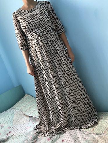 Платье в пол, в горошек. Размер М. Цена в Бишкек