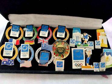 14 αυθεντικές καρφίτσες Ολυμπιακών Αγώνων Αθήνα 2004 δίνονται όπως