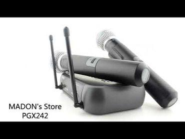 Bakı şəhərində Karaoke mikrofonu Kristal 242  Mikrofon 2-li  şunuruz karaoke