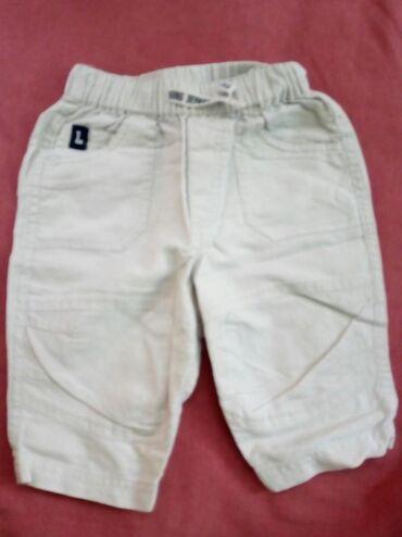 Lanene pantalone - Srbija: Krem lanene pantalonice,vel.62 H&M