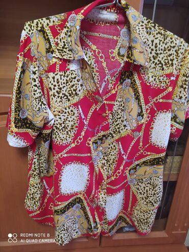 блузки-рубашка в Кыргызстан: Рубашка жен.штапель.Лёгкая дышащяя,на лето самое то.Сост