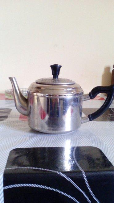 Bakı şəhərində Dəm çayniki,sovetindi. 1 lt. Az istifadə olunub. Deffekti yoxdu. Qiymə