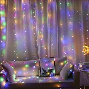 Novogodišnja LED zavesa3 x 3m 2250din - bela, plava, RGB4 x 3m 2550din