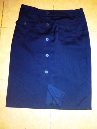 синяя юбка в Кыргызстан: Юбка длина офисная, ткань стрейч размер 46, сбоку молния,смотрится