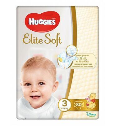 "huggies elite soft в Кыргызстан: Подгузники ""Huggies"" Elite Soft 3, 5-9кг, 80 шт"