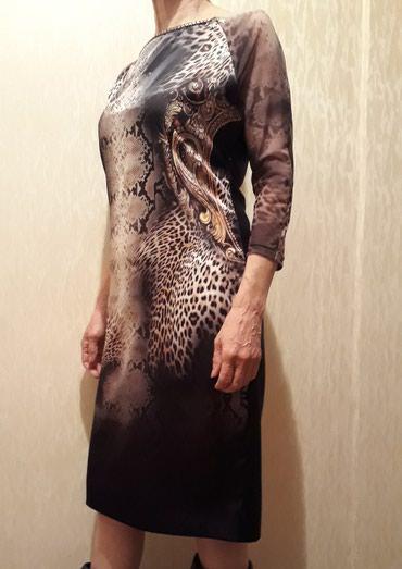 теплое платье большого размера в Кыргызстан: Платье ! Турция 48 50 размер. не подошёл размер. на грудь больше 90см